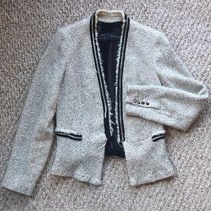 Zara blazer with metal trim